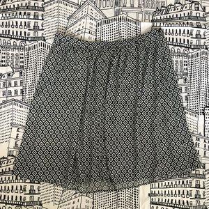 Flowy Black and White LOFT Skirt